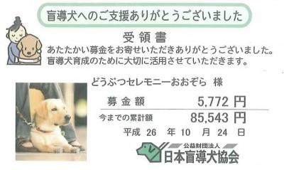 公益財団法人 日本盲導犬協会 募金 2014