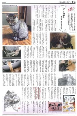 猫とも新聞 塚崎さん掲載