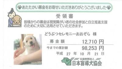 公益財団法人 日本盲導犬協会 募金 2015