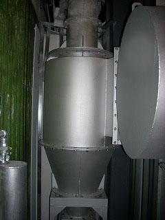 小型火葬炉 サイクロン集塵機