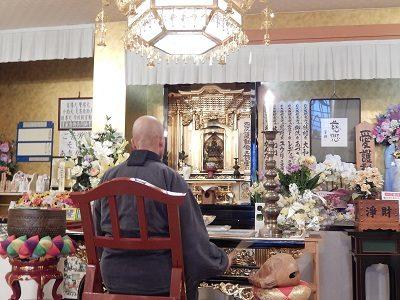 2016.12 禅林寺、金剛院ご住職週1回のご供養2